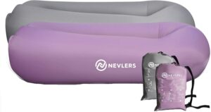 Nevlers 2 Pack Inflatable Loungers with Side Pockets & Matching Travel Bags 充气沙发躺椅 – 2件装