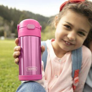 THERMOS FUNTAINER 12 Ounce Stainless Steel 儿童保温吸管水瓶